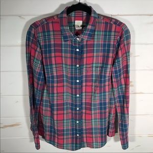 J. Crew The Boy Plaid Shirt